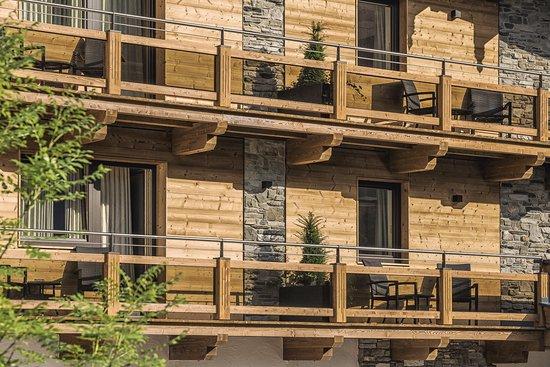 Hippach, Austria: Balkon Kristall-und Panoramazimmer