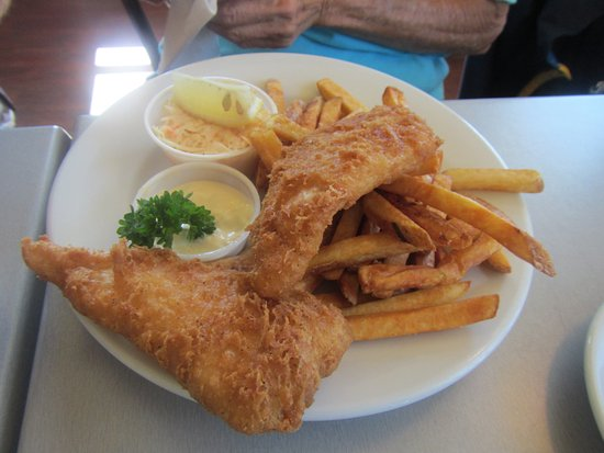 Enjoyed the fish & chips at Clam Diggers in Georgetown. Very filling.