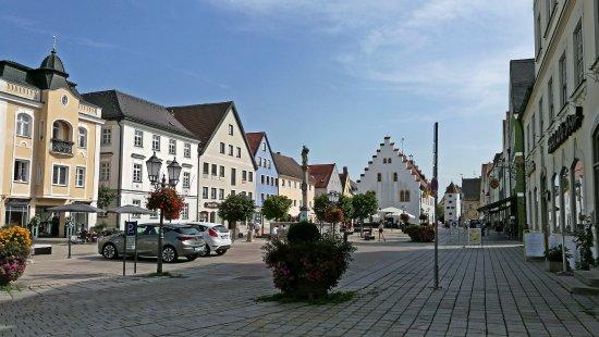 Schongau, Alemanha: вид с площади