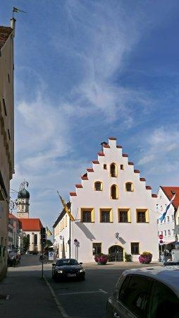 Schongau, Alemanha: вид от Полицмейстерской башни