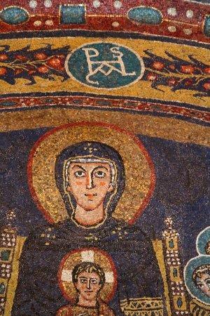 Basilica di Santa Maria in Domnica alla Navicella: Apse Mosaic - Holy Virgin