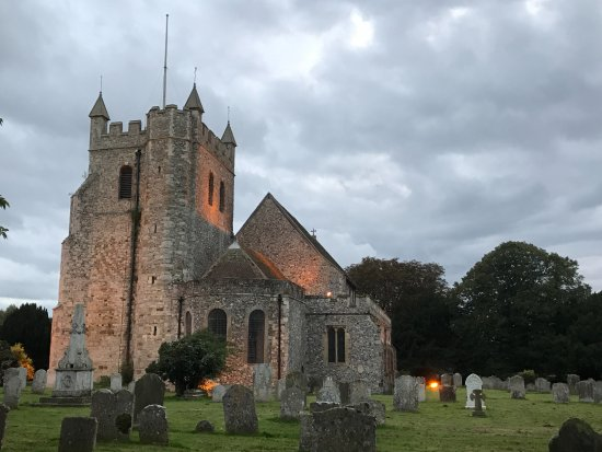 Wye Church at night on the way back (2)
