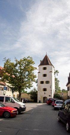 Schongau, Alemanha: вид с близлежащей улочки