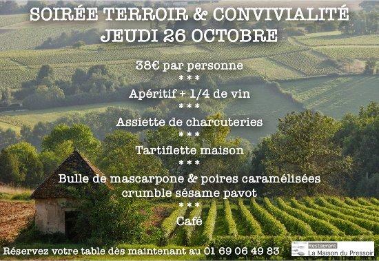 Crosne, Francia: soirée Terroir & Convivialité