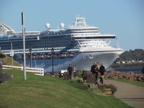 Victoria Park: While on the boardwalk you might see a cruise ship or two leaving.