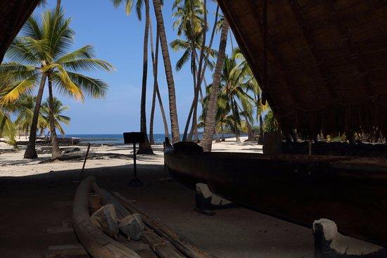 Honaunau, Hawái: Canoe hut
