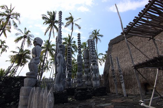 Honaunau, Hawái: Tiki totems