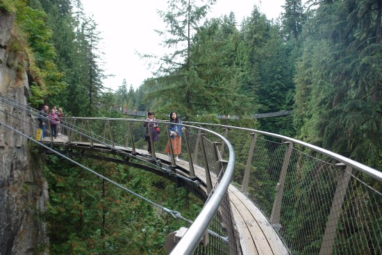 North Vancouver, Canada: The Cliff Walk with the Bridge in the Background