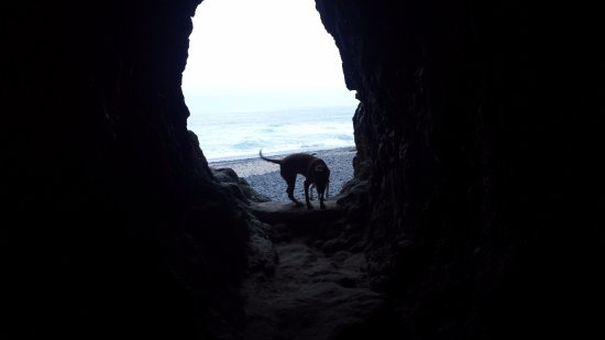 Oceanside, OR: tunnel to the north beach
