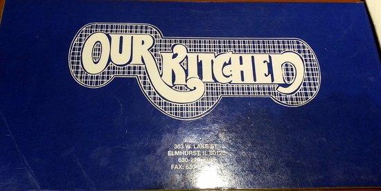 menu for Our Kitchen Picture of Our Kitchen Elmhurst TripAdvisor