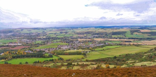 Melrose, UK: Another Scene from part way up the Eildon Hills.