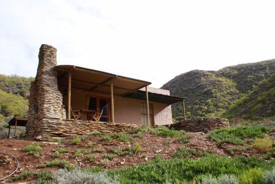 Robertson, Güney Afrika: Stone Cottage stoep