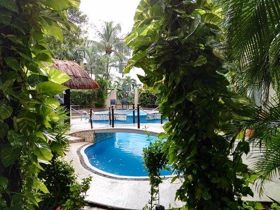 Hotel Riviera del Sol: Jardin interior, corazon del hotel, con la pileta.