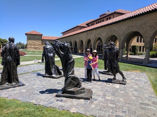 Palo Alto, CA: Statues on the court yard @ Stanford University, CA.