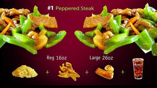Forsyth, มิสซูรี่: Peppered Steak Combo, HK Express