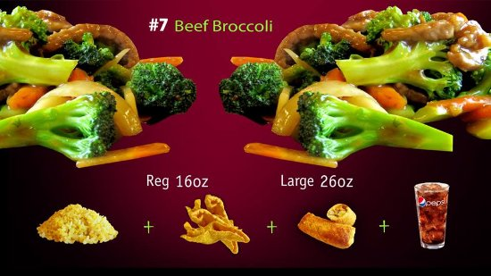 Forsyth, MO: Beef Broccoli Combo, HK Express