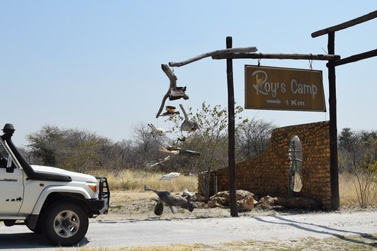 Rundu, Namibia: Entrance to Roy's