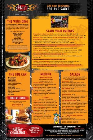 Cornelius, Carolina del Norte: Mac's Speed Shop Full Menu!