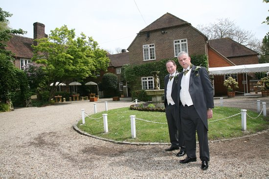 Howfield Manor Hotel: The groom outside hotel reception