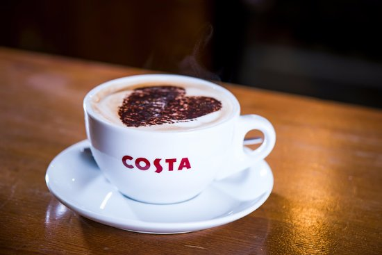 """Shannon, Irland: """"Proud to Serve"""" Costa Coffee"""