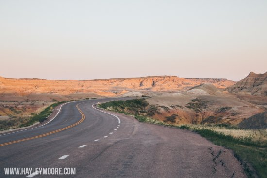 Loop Road: Empty Badlands road