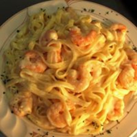 Rural Valley, PA: Shrimp Alfredo.