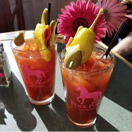 Pony Up Bloody Mary Homemade Recipe With A Spicy Pickle Picture