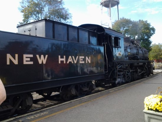 Essex, CT: This was our Steam hauled engine on the day.