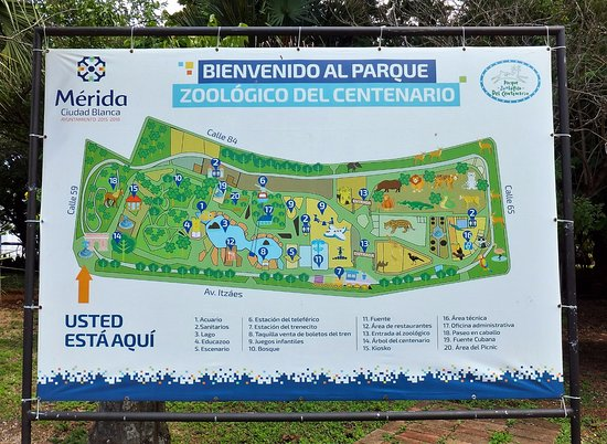 Map of the entire area Picture of Zoological Park of Centenario
