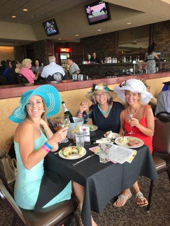 Remington Park : Celebrating my sister's birthday & Oklahoma Derby Day in the Eclipse Restaurant.