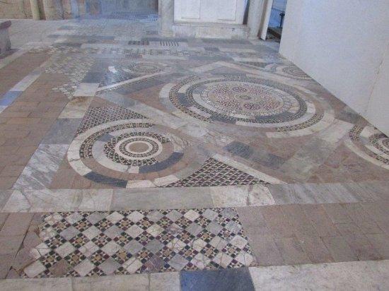 Church of San Pietro: Floor of San Pietro, Tuscania