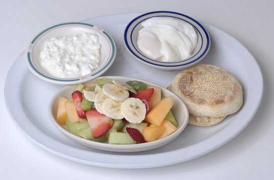 Pouched Eggs and Cottage Cheese