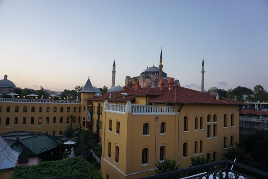 Berk Guest House: View from the roof terrace.