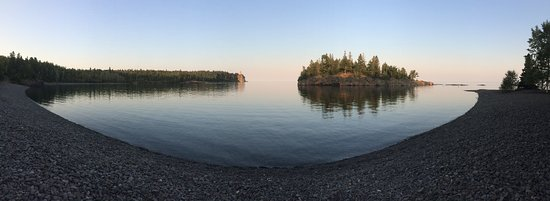 Two Harbors, MN: Pano at the beach