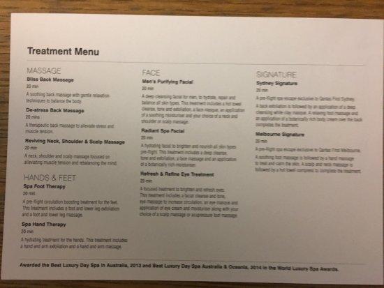 how to read a pool spa menu