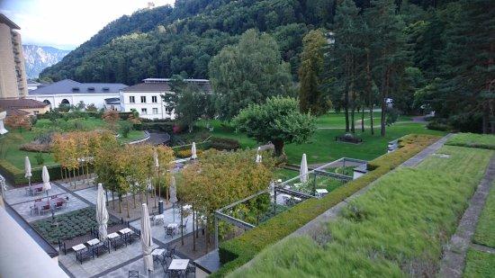 Grand Hotel Hof Ragaz: Der Blick von unserem Balkon
