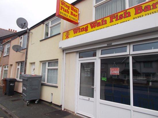 Flint, UK: Wing Wah Fish Bar, Oakenholt