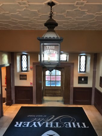 The Thayer Hotel: The lobby entrance