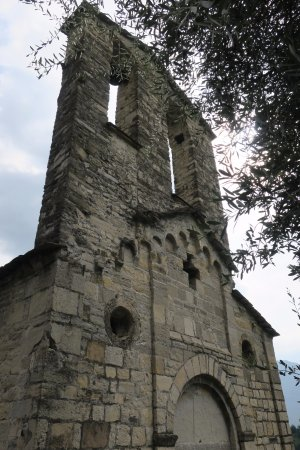 Ossuccio, Italy: Bell tower is unusual for a church of this type.