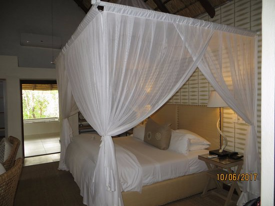 Londolozi Private Game Reserve, África do Sul: The mosquito net seemed to be for ornamental purposes. We never saw a mosquito and rooms have A/