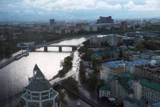 Swissotel Krasnye Holmy Moscow: View from the 25th floor in the morning