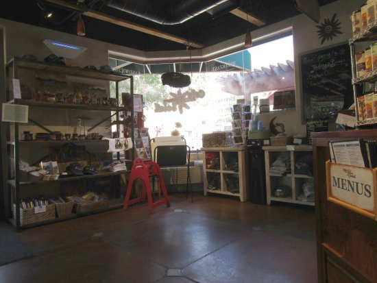 Cafe Soleil: Interior: Food items and souvenirs for sale