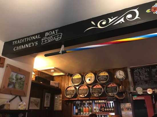 The Lockkeepers Rest Micropub-Sawley Locks: Boating themed interior