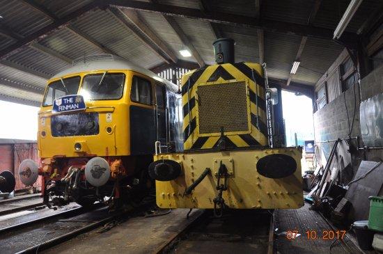 Burnham-on-Crouch, UK: Inside the locomotive shed