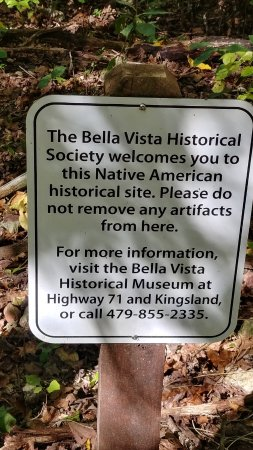 Bella Vista, AR: Sign on the trail at the Back 40