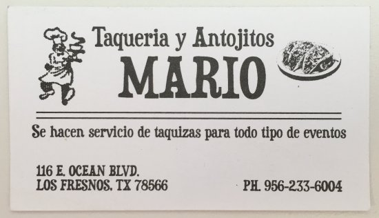 Los Fresnos, TX: Business Card