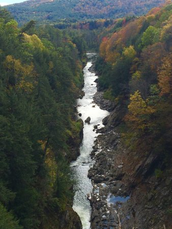 Quechee, VT: View from the bridge