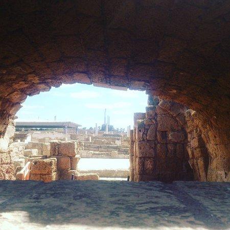Caesarea National Park: Руины городских улиц
