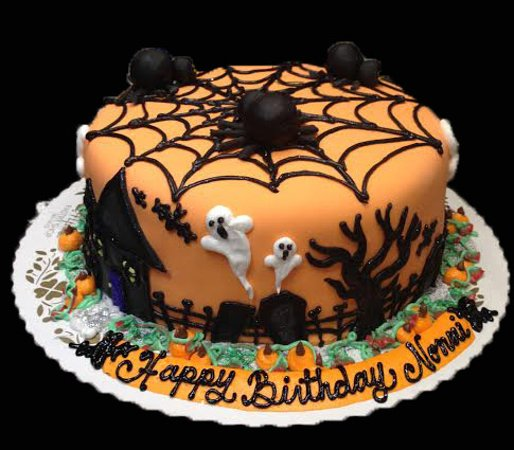 Spooky Halloween Cakes - Picture of Alpine Pastry Shop, Smithtown ...