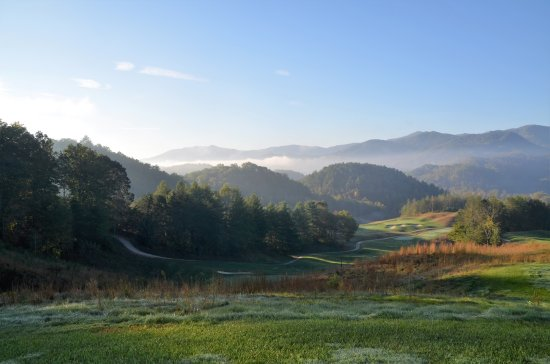 Whittier, NC: 1st tee box, just keeps getting better